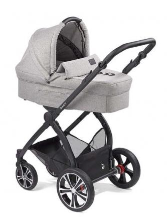 Gesslein Indy combi-stroller Black Pepper incl. carryot, seat frame black/black