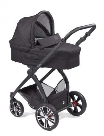 Gesslein Indy combi-stroller Simply Black incl. carryot, seat frame black/cognac