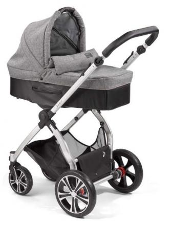 Gesslein Indy combi-stroller Metropolis incl. carryot, seat frame silver/black
