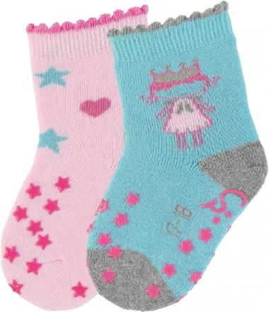 Sterntaler ABS crawling socks 17/18 princess blue