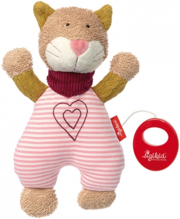 Sigikid 39030 Muscial toy cat Urban Baby Edition