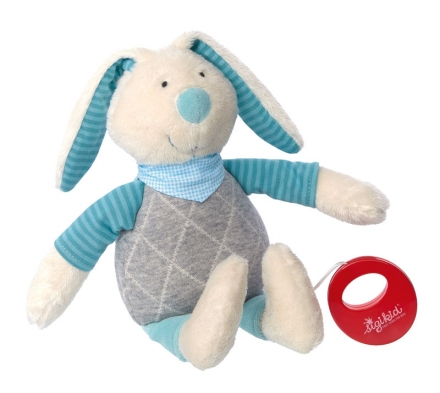 Sigikid 39040 Muscial toy bunny mint Urban Baby Edition