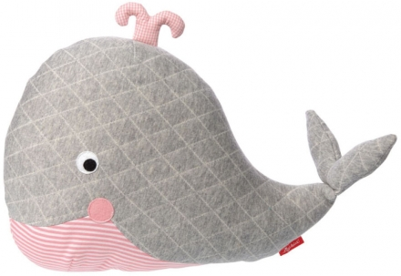 Sigikid 39073 Pillow whale grey Urban Baby Edition