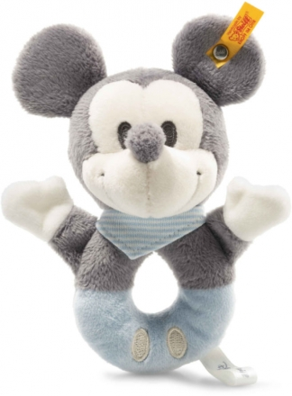 Steiff 290046 Mickey Mouse grip toy 13 grey/blue/white