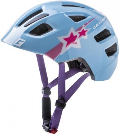 Cratoni child helmet Maxster blue star glossy XS-S
