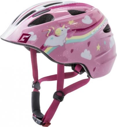 Cratoni child helmet Akino unicorn pink glossy S