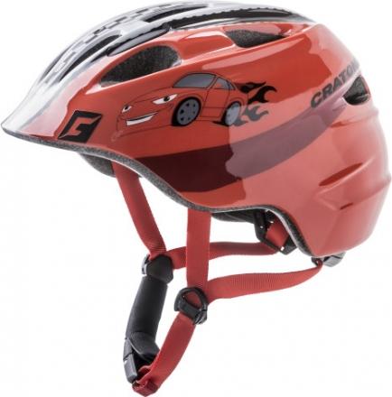 Cratoni child helmet Akino racer red glossy M