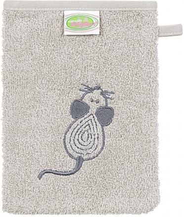 Odenwälder Frottee Waschhandschuh 3tlg. Mouse grau