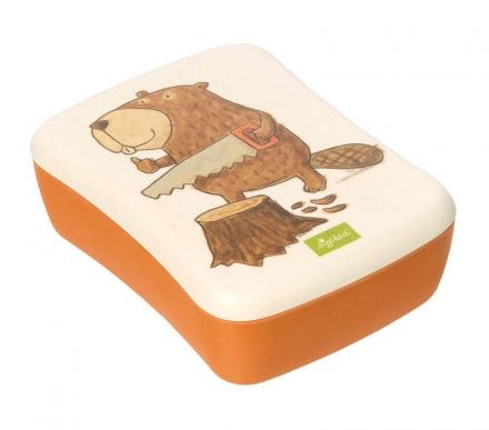 Sigikid 25047 lunch box beaver Green