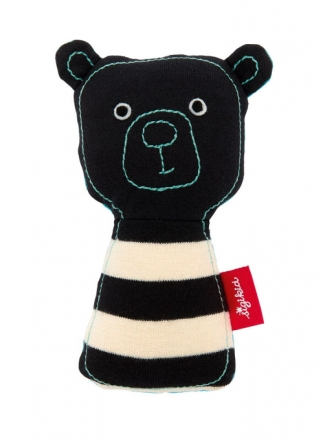 Sigikid 39116 Rattle bear black & white