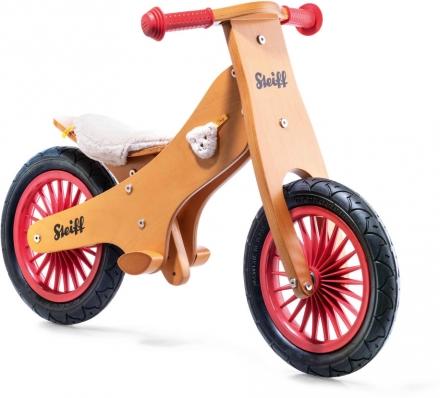 Steiff 751004 Balance bike classic brown/red
