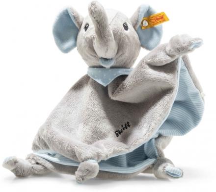 Steiff Trampili elephant cuddly blanket 28 cm grey / blue