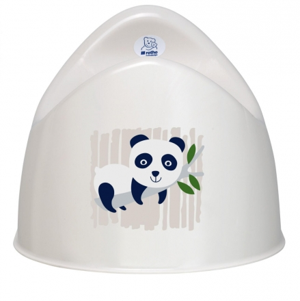 Rotho Bio potty panda organic white