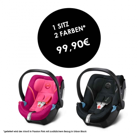 Cybex ATON 5 Passion Pink incl. seat cover Urban Black