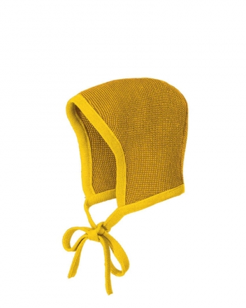 Disana knitted hood Gr.1 curry-gold