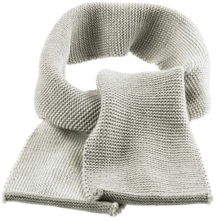 Disana wool melange scarf grey-creme