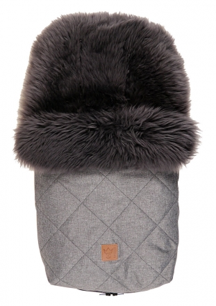 Kaiser footmuff Nelly lambskin early grey coll. 19/20 anthracite melange