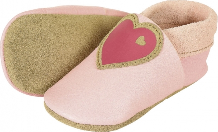 Sterntaler Leather baby-bootees 19/20 rose