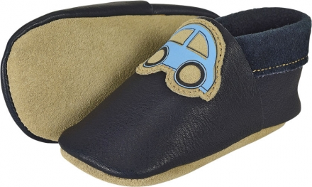 Sterntaler Leather baby-bootees 21/22 navy