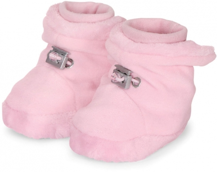 Sterntaler Baby-bootees with cord stopper 17/18 rose