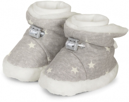 Sterntaler Baby-bootees with cord stopper stars 17/18 pebble