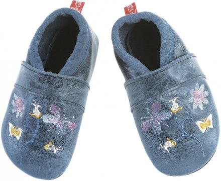 Anna and Paul leather toddler shoe Paradise jeans with leather sole size S-18/19