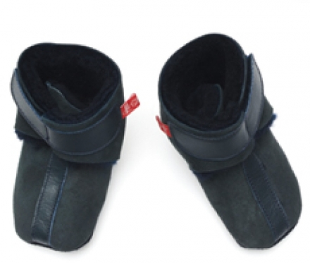 Anna and Paul leather toddler shoe with lambskin and leather sole size S-18/19