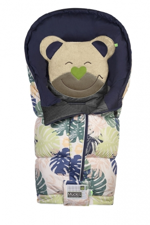 Odenwälder sleeping bag Mucki L Fashion Tropical Leaves coll. 19/20  powder-green