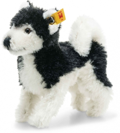 Steiff 026683 Wildlife Giftbox Husky Mohair black/white