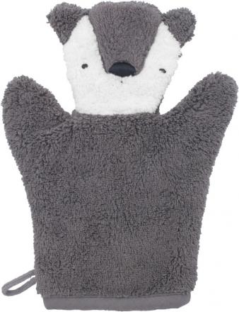 Sebra Terry bath puppet Milo the Bear pinecone brown