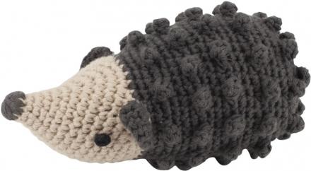 Sebra Crochet rattle Hedgehog Rolly pinecone brown