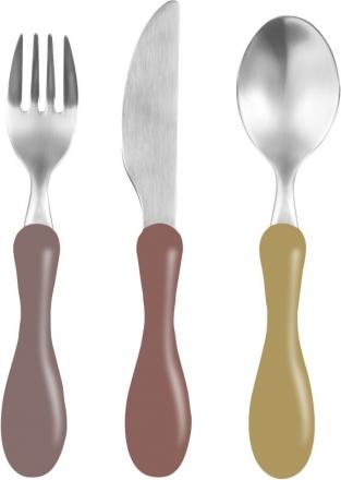 Sebra Cutlery clay red