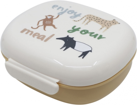 Sebra Lunch box with divider Wildlife