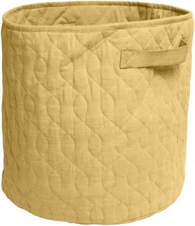 Sebra Quilted basket 48l honey mustard