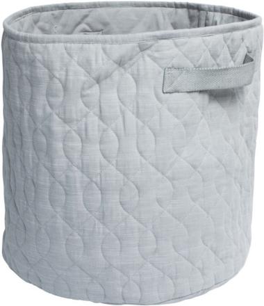 Sebra Quilted basket 48l elephant grey