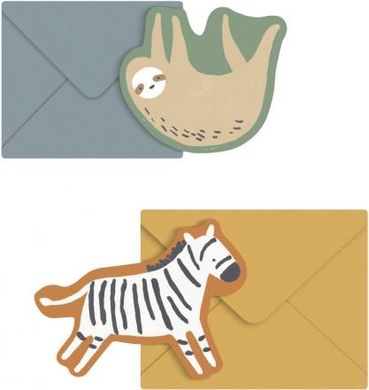 Sebra Greeting cards (2pcs.) Wildlife Lacey and Zapp
