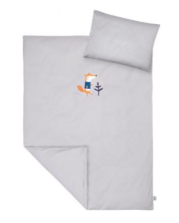 Zöllner Bedding with appliqué Ferdinand the Fox 100x135cm