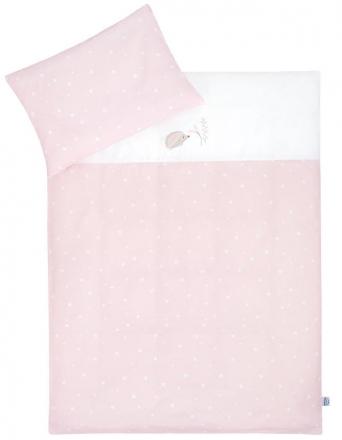 Zöllner Bedding with appliqué Hedgehog Star Rose 100x135cm