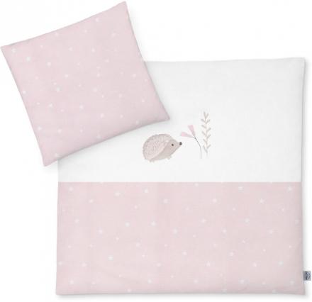 Zöllner Bedding with appliqué Hedgehog Star Rose 80x80cm