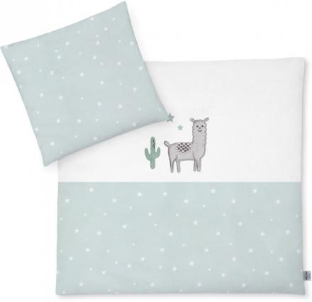 Zöllner Bedding with appliqué Llama Star Mint 80x80cm