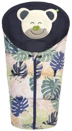 Odenwälder little footmuff Mucki Fashion Tropical Leaves coll. 19/20 powder-green