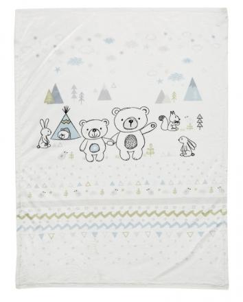 Alvi Microfiber baby blanket Tipi Bear 75x100