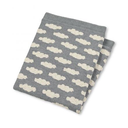 Sterntaler Knitted Cuddly Blanket silver melange