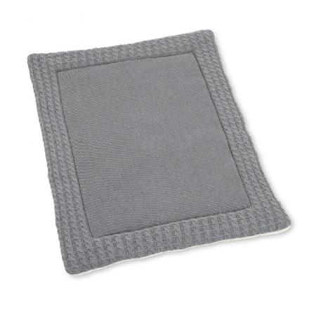 Sterntaler Knitted crawling blanket silver melange