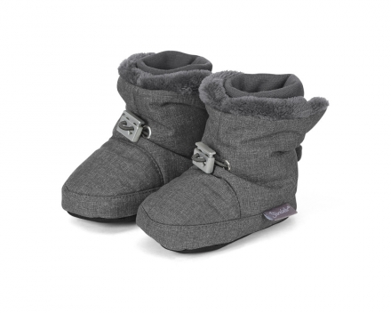 Sterntaler 5101831 baby-bootees with cord-stopper 19/20 anthrazit melange