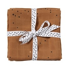 Done by Deer Swaddle 2-pack, Dreamy dots, mustard