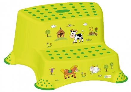 Keeeper Step stool with 2-steps Farm green