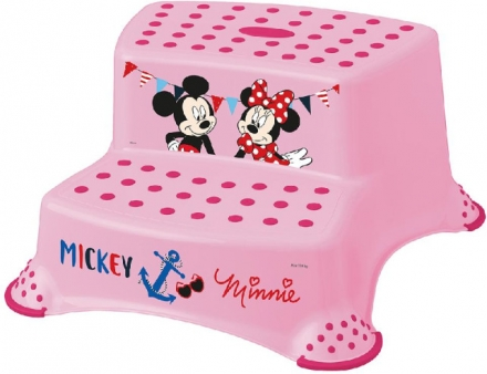 Keeeper Step stool with 2-steps Minnie Mouse pink