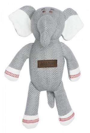 Juddlies design Cottage Collection - Rattle cotton (organic) - Elephant - Driftwood Grey