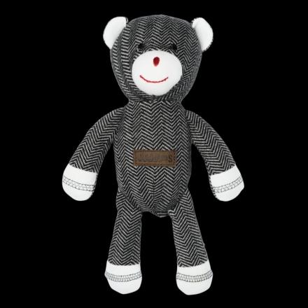 Juddlies design Cottage Collection - Rattle cotton (organic) - Bear - Bear Black